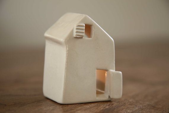 Ceramic Candle Holder Love Houses by SimoneCeramics on Etsy