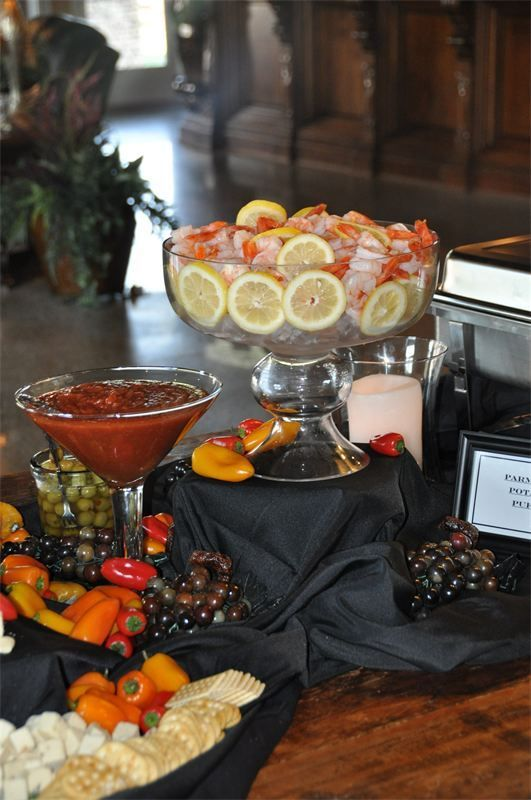 Great way to serve boiled shrimp and cocktail sauce for Table 52 recipes