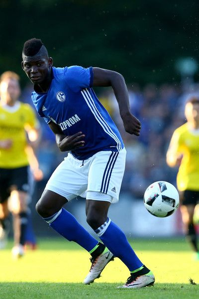 Breel Embolo of Schalke runs with the ball during the friendly match between DSC Wanne-Eickel and FC Schalke 04 at Mondpalast Arena on July 19, 2016 in Herne, Germany.