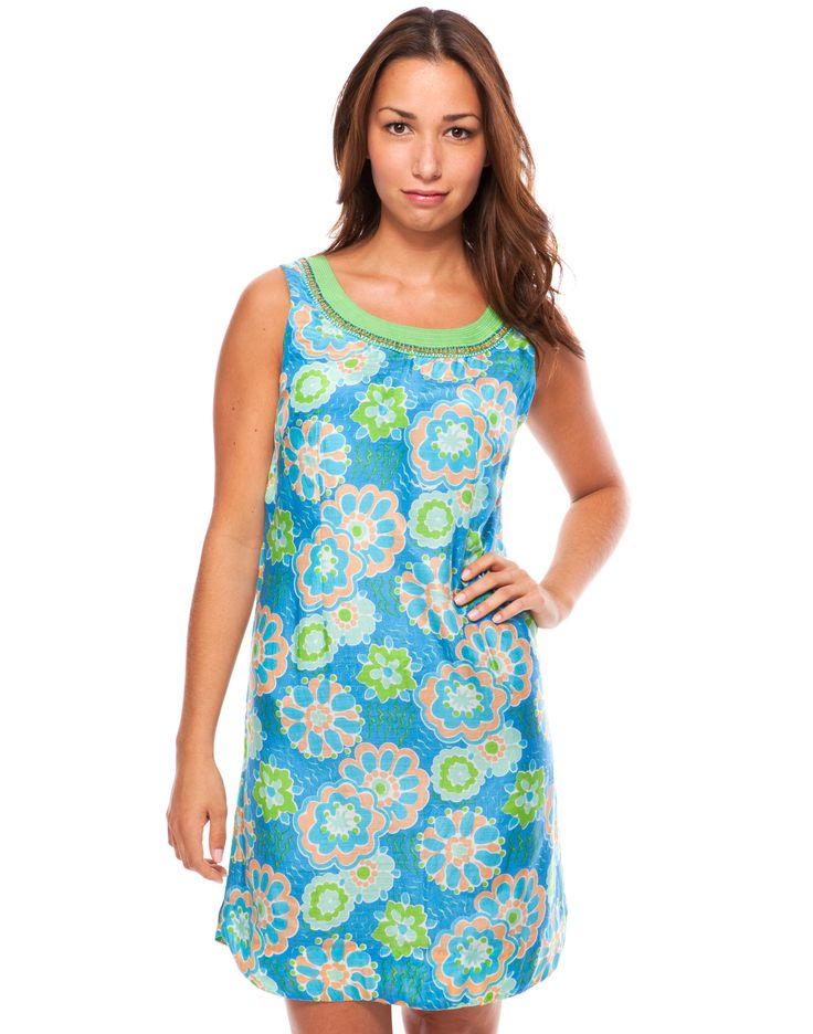 Whimsy Print Dress - Ocean