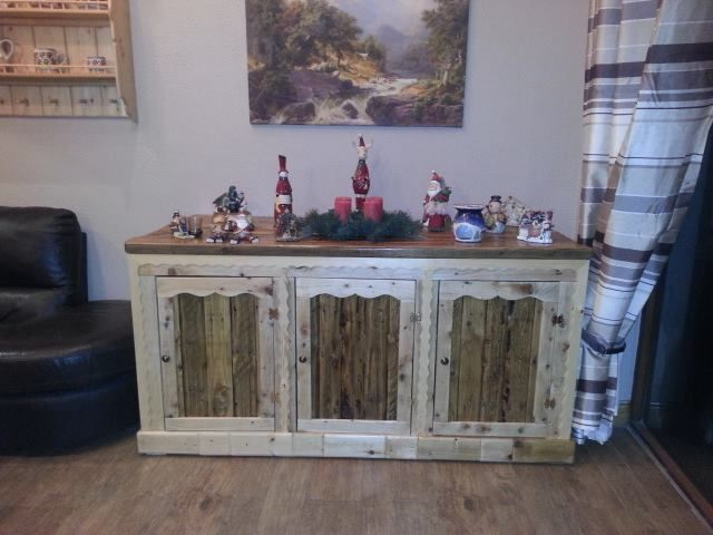 Side board made from old pallet wood