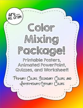 Color Mixing Package Primary Secondary And Tertiary Intermediate Colors