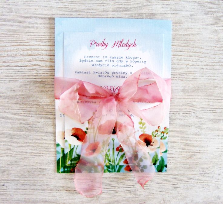 Wedding Invitation with poppies