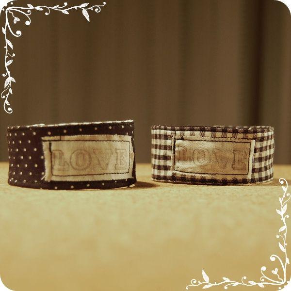 Pulsera de tela / Fabric bracelet / Bracelet en tissu. www.facebook.com/TinitaSofia
