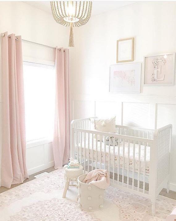 Girls Crib Sheet BLUSH -BOHEMIAN Bedding /Mini Crib Sheets ...