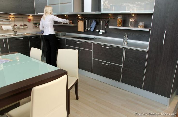 Modern Black Kitchen Cabinets #04 (Kitchen-Design-Ideas.org)