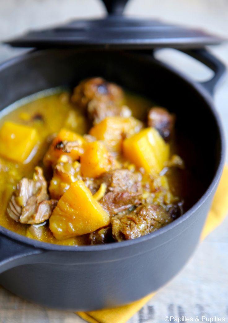 Joues de porc au curry et à l'ananas