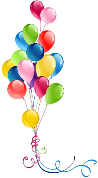 Transparent Bunch Balloons Clipart #compartirvideos #happybirthday Más