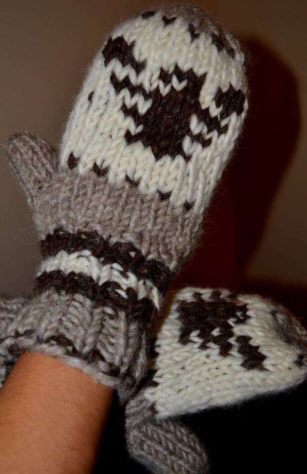 Cowichan Eagle Knit Gloves http://www.faceofnative.ca