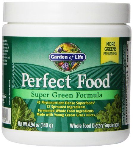 Garden of Life Whole Food Vegetable Supplement - Perfect Food Green Superfood Dietary Powder 140g