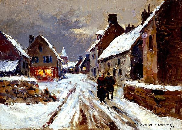 Winter Evening by Edouard Leon Cortes