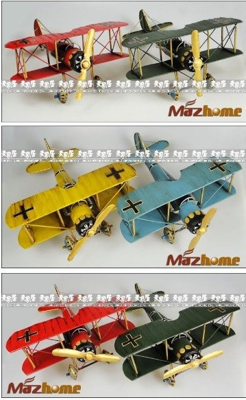 Iron model plane, propeller plane model, Red baron plane, double ji albatross plane, high quality,Free Shipping-in Model Building Kits from Toys & Hobbies on Aliexpress.com