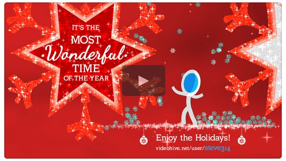 Christmas  Holidays video background Merry Christmas stock video