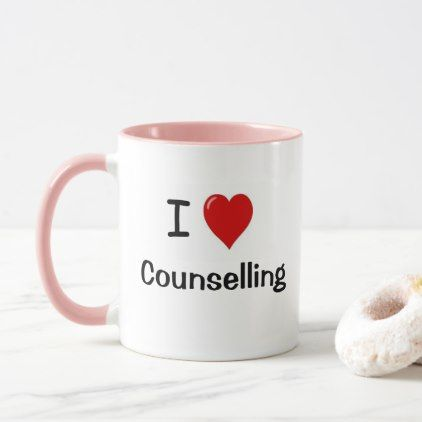 I Love Counselling Loves Me Counsellor Gift Mug - decor gifts diy home & living cyo giftidea