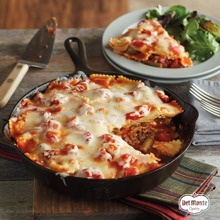 Skillet Ravioli Lasagna gives your family the comfort food they crave any night of the week. Using refrigerated ravioli, it's ready in 1/3 of the time and makes weeknight comfort food deliciously doable.