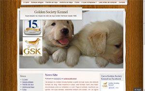 Site do canil Golden Society Kennel - Especializado na criação de cães da raça Golden Retriever desde 1998. Belo Horizonte - MG - Brasil