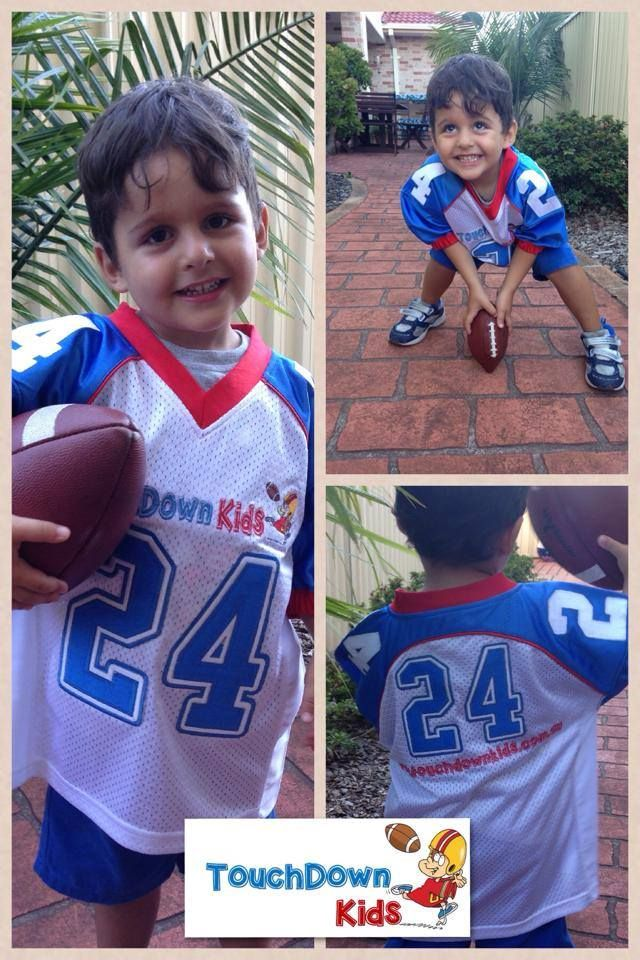 TouchDown Kids Jersey - with every new preschool program registration. http://www.bringitonsports.com.au/touchdown-kids/touchdown-kids-preschools/