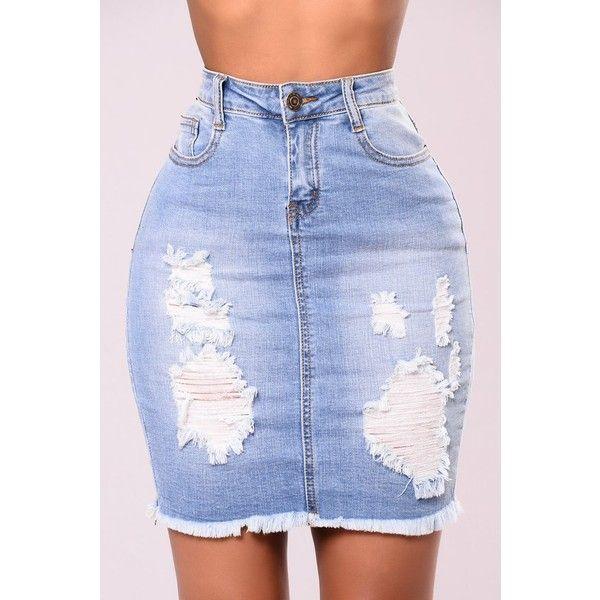Tallulah Skirt Light (£19) ❤ liked on Polyvore featuring skirts, blue skirt, cotton knee length skirt, calf length skirts, stretch midi skirt and midi skirt