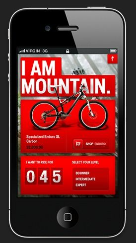 Specialized bikes iphone app design