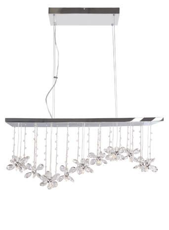 Crystal Ceiling Lighting With Chrome Fittings And Cut Glass Butterfly Flower