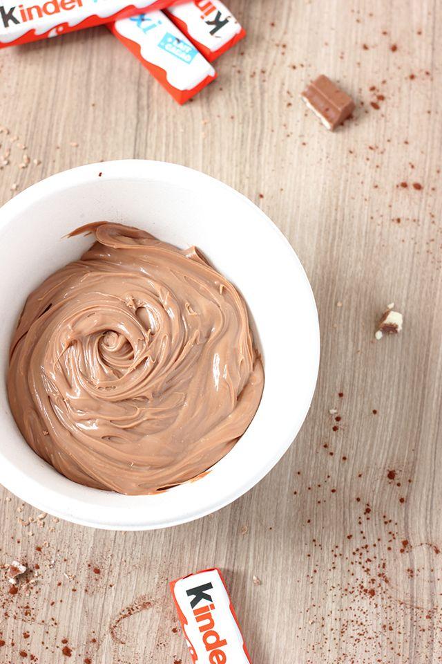 Ganache aux barres de chocolat Kinder Maxi
