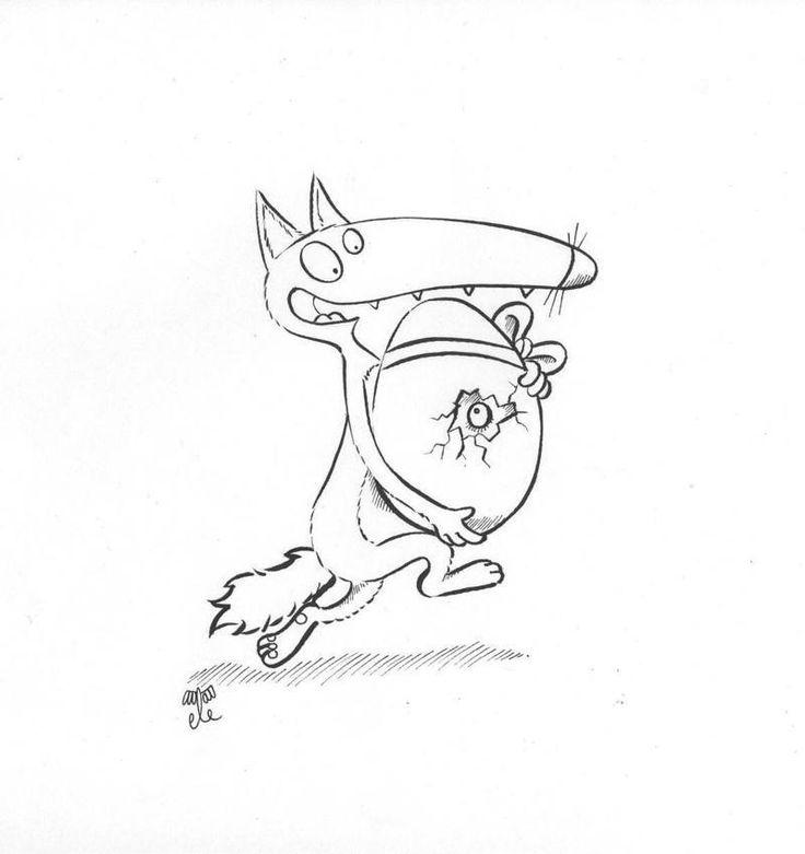 Les 505 meilleures images du tableau ptit loup sur - Petit loup dessin ...