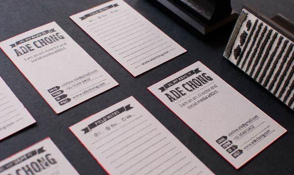 Desain Stempel Karet - Kartu Nama 2