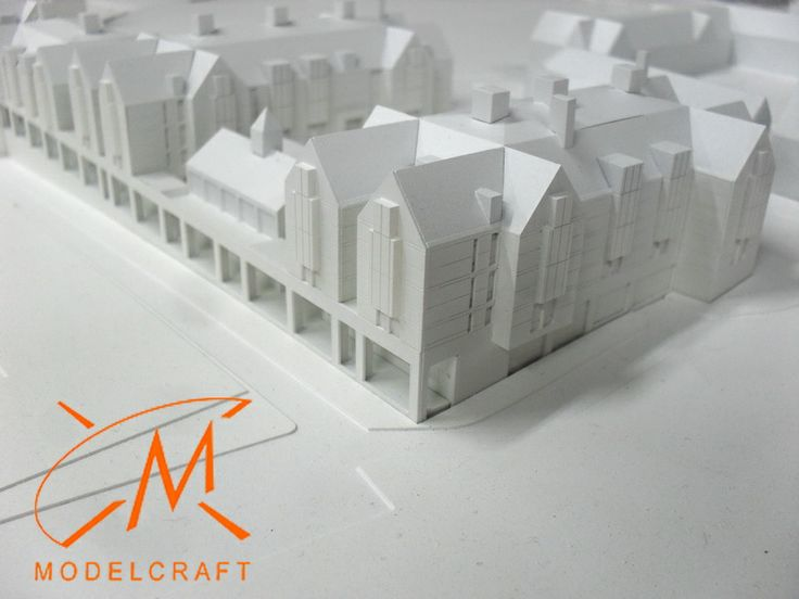 1:500 White Architectural Model by Modelcraft (NSW) Pty Ltd - 13013