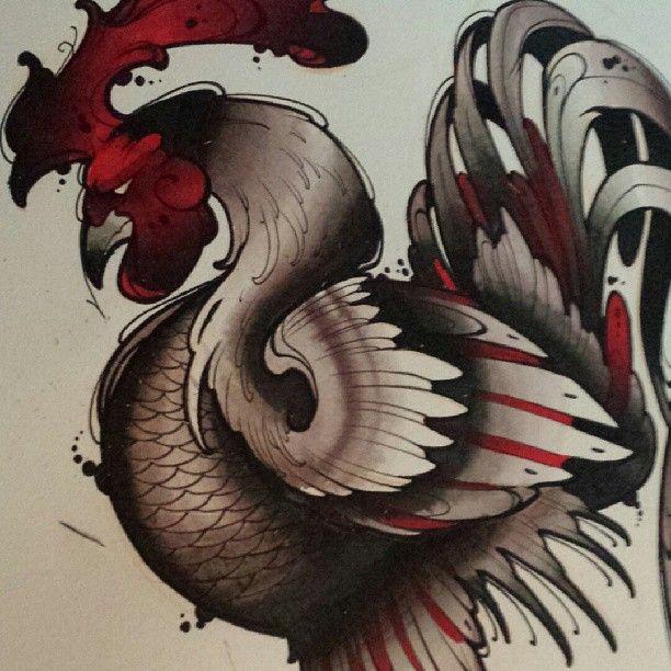"""#cock #rooster #watercolorelitist #wip #artnerd #karma"""