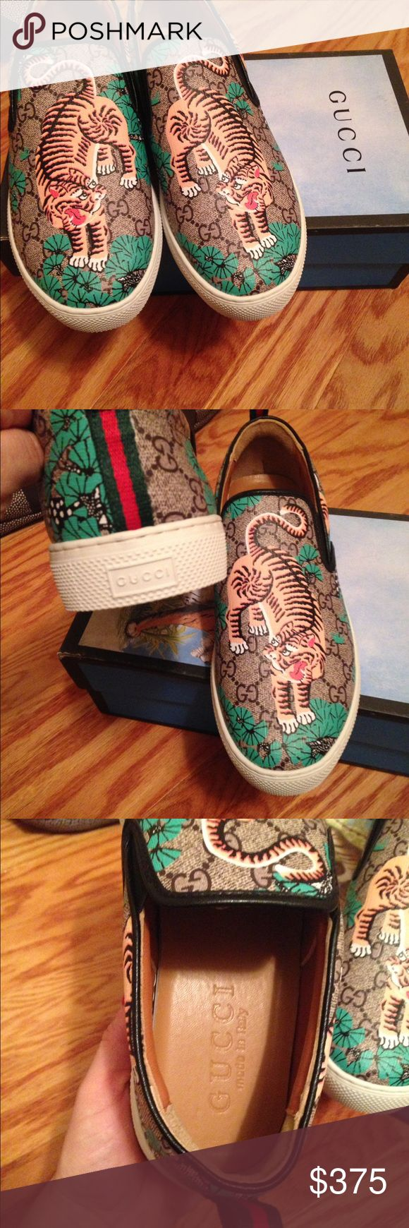 Gucci Bengal tiger slip on sneaker New authentic men's size 8.5 with box Gucci Shoes Loafers & Slip-Ons