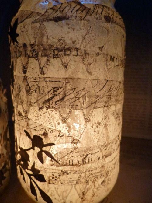 Tim Holtz altered jars by Alison at A Vintage Journey