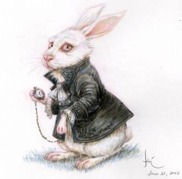 Пожилых, белый кролик картинки алиса