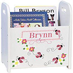 Personalized Child's Book Storage Magazine Rack - Ladybug