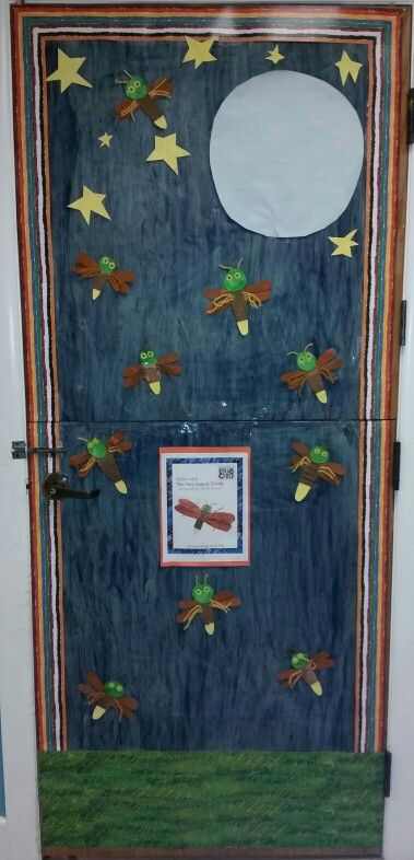 Our Classroom Door Decorated From The Eric Carle Story The