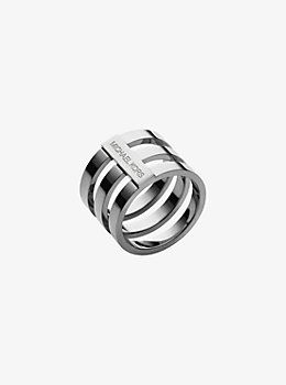 Silver-Tone Tri-Stack Ring by Michael Kors