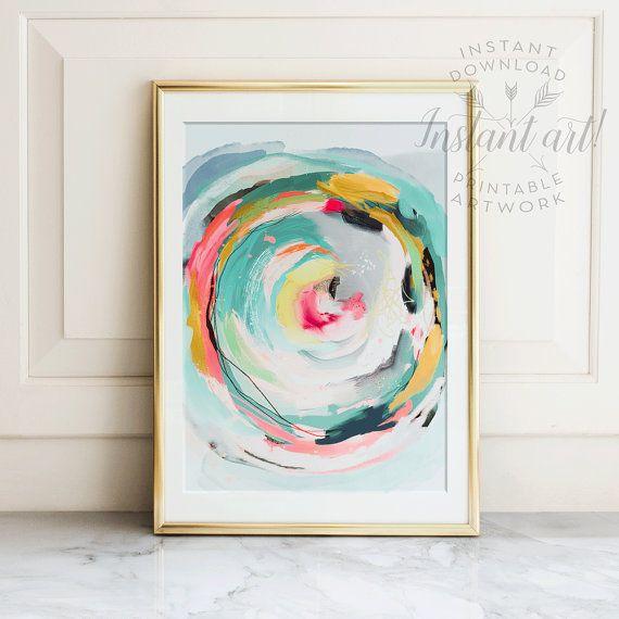 Abstract Art, Wall Art, PRINTABLE Art, Colorful Art, Abstract Print, Modern