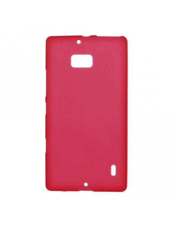 Θήκη Σιλικόνης TPU Ματ για Nokia Lumia 930 / Icon 929 - Κόκκινο