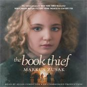 I finished listening to The Book Thief (Unabridged) by Markus Zusak, narrated by Allan Corduner on my Audible app.  Try Audible and get it free.