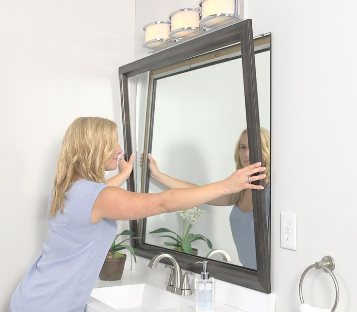 add frame to bathroom mirror 1000 images about mirrormate how it works on 21889
