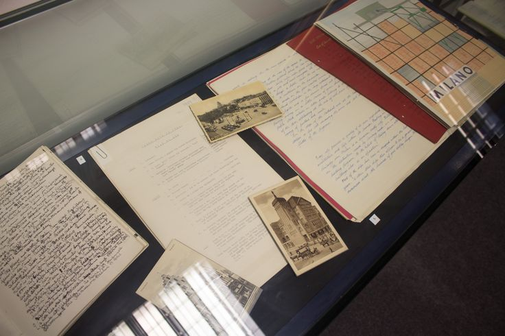 GSA Archives and Library display on the second floor of the GSA Library.