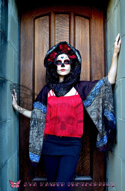 Mysteria - Fine Art Photography Day of the Dead Decor Sugar Skull Wall Decoration Limited Edition 8 x 10 Print. $42.00, via Etsy.