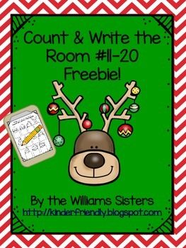 Hi Teacher Friends! Here is a Christmas gift for you and your students. This count and write the room freebie is a favorite with the kindergarten kids. We hope your students enjoy it and have lots of fun practicing those numbers 11-20. It is our way of saying thank you for your support!
