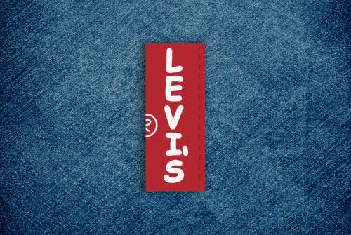 Levi's logo in Comic Sans