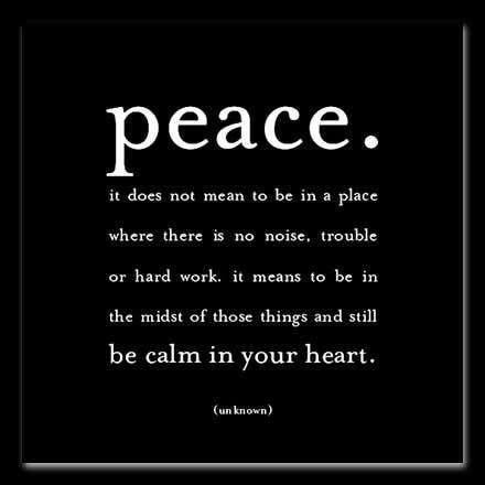 peace.