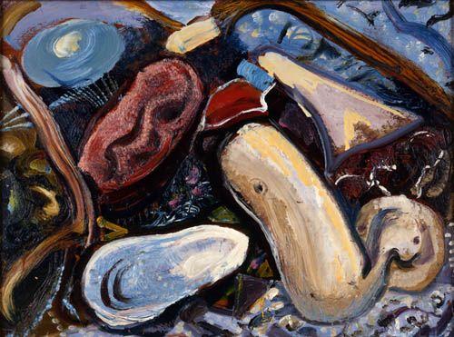 """Seashapes, Cape Breton,"" Arthur Lismer, 1959, oil on panel, Art Gallery of Nova Scotia."