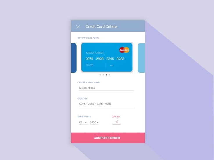 Day 002-Credit Card Checkout by Misba Abbas