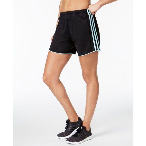 adidas Tastigo ClimaCool Soccer Shorts ($14) ❤ liked on Polyvore featuring activewear, activewear shorts, adidas sportswear, adidas activewear and adidas