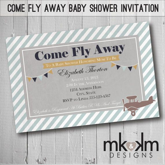 66 best images about vintage travel baby shower on pinterest, Baby shower invitations