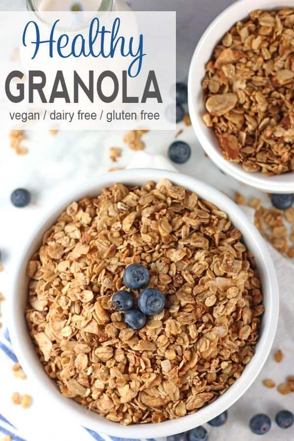 Healthy Granola Recipe Sugar Free Granola Vegan Snacks Food