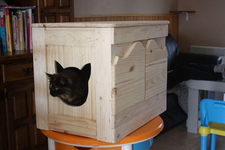 Les 25 meilleures id es de la cat gorie meuble litiere chat sur pinterest liti re pour chat - Meuble litiere chat ikea ...